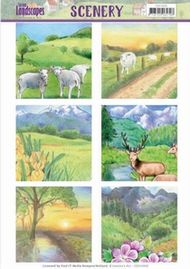 Die Cut Topper Scenery Jeanine's Art CDS10009 Landscapes