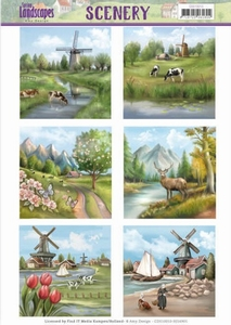 Die Cut Topper Scenery Jeanine's Art CDS10010 Landscapes