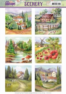 Die Cut Topper Scenery Jeanine's Art CDS10011 Landscapes