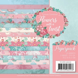 Yvonne Creations Paperpack YCPP10022 Flowers in a twist