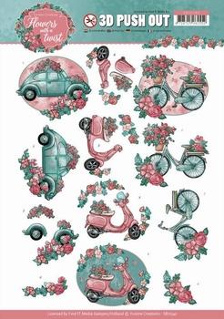 3D Stansvel Yvonne SB10341 Flowers in a twist Transport