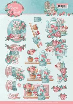 3D Knipvel Yvonne CD11289 Flowers in a twist Tea Time
