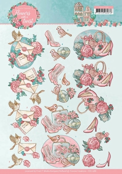 3D Knipvel Yvonne CD11288 Flowers in a twist  Ladies things
