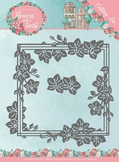 Yvonne's Die YCD10164 Flowers in a twist Orchid Frame