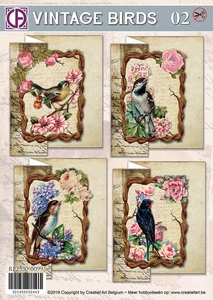 Creatief Art RE2530-0099 Vintage Birds 02