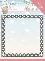 Yvonne's Die YCD10153  Welcome Baby Heart Frame