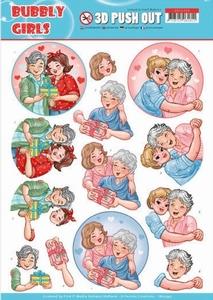 A4 Pushout Yvonne SB10345 Bubbly Girls Mothersday