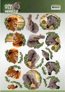 3D Knipvel Amy Design CD11301 Wild Animals 2 Africa