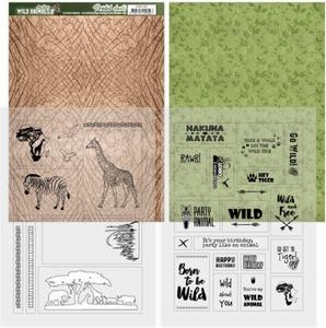 Amy Design Printed Sheets ADMC1001 Wild Animals 2 Giraffe
