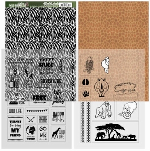 Amy Design Printed Sheets ADMC1002 Wild Animals 2 Zebra