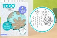 TODO Letterpress & Hot Foil 383626 Plate Modern Flower Stack
