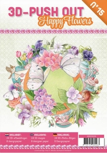 A4 Push Out Book 3D PO10015-NL Happy Flowers