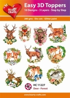 Hearty Crafts Easy 3D Toppers HC11227 Deer/Forest
