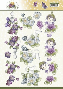 Marieke 3D Knipvel Blooming Summer CD11314 Summer Scenes