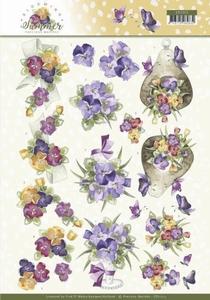 Marieke 3D Knipvel Blooming Summer CD11313 Pansies
