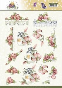 Marieke 3D Knipvel Blooming Summer CD11312 Red Flowers