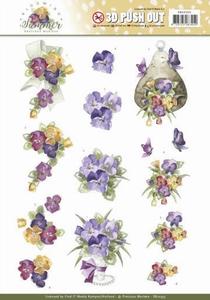 Marieke 3D Stansvel Blooming Summer SB10355 Pansies