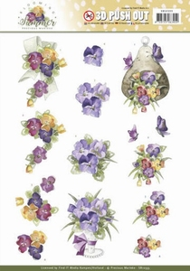 Marieke 3D Stansvel Blooming Summer SB10355 Pansies