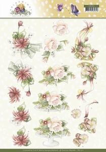 Marieke 3D Knipvel Blooming Summer CD11311 Sweet Flowers
