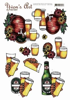 3D Knipvel Yvon's Art Factory CD11343  Beer