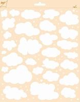 Joy! polybesa stencil 6002/0846 Wolken - sterren