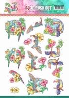 Yvonne Happy Tropics 3D Push Out SB10364 Exotic Birds