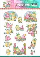 Yvonne Happy Tropics 3D Push Out SB10363 Fruits