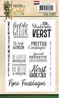 Amy Design Christmas in Gold ADCS10060 Clearstamp tekst