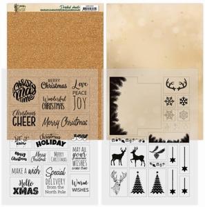 Amy Design Christmas in Gold ADMC1003 Mica Sheets