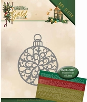 Amy Design Christmas in Gold Die ADD10183 Christmas Bauble