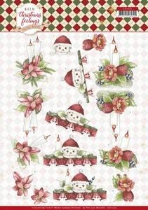 Marieke Warm Christmas Feelings 3D Knipvel CD11319 Candles