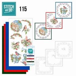 Stitch and Do STDO115 Christmas Birds