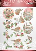 Jeanine's Art Lovely Christmas 3D Knipvel CD11378 Birds
