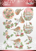 Jeanine's Art Lovely Christmas 3D Knipvel CD11378 Birds