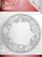 Jeanine's Art Lovely Christmas Dies JAD10077 Circle Frame