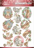 Jeanine's Art Lovely Christmas 3D Pushout SB10387 Pets