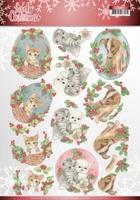 Jeanine's Art Lovely Christmas 3D Knipvel CD11375 Pets
