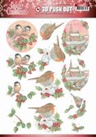 Jeanine's Art Lovely Christmas 3D Pushout SB10390 Birds