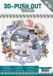 3D Push Out Book 3DPO10012-NL Winter