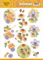 Jeanine's Art Buzzing Bees 3D Pushout SB10368 Sweet Bees