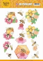 Jeanine's Art Buzzing Bees 3D Pushout SB10367 Honey Bees