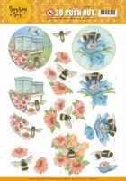 Jeanine's Art Buzzing Bees 3D Pushout SB10366 Working Bees