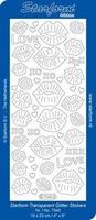 Sticker Starform Transparant Glitter 7040 Kusjes