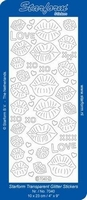 Stickervel Starform Transparant Glitter 7040 Kusjes