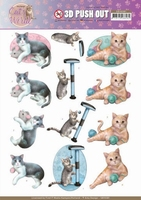 Amy Design Cats World 3D Pushout SB10381 Playing Cats