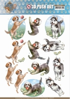 Amy Design Dogs Life 3D Pushout SB10377 Playing Dogs