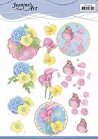 Jeanine's Art 3D Knipvel CD11394 Flowers