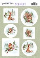 Yvonne Creations Scenery CDS10012 Aquarella Christmas Animal