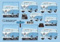 Marjoleine's 3D Knipvellen 1171430033 VW busje A4