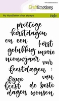 CraftEmotions A6 clearstamps 1828 Handletter woorden kerst